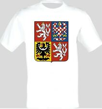 Coat of Arms Of The Czech Republic Czech Arms Flag T-Shirt All Sizes