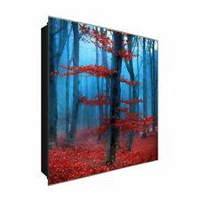 """Schlüsselkasten """"Magical forest """" DEKOGLAS 30x30 aus Glas, Flur Wand modern"""