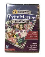 Broderbund PrintMaster Platinum for PC/Windows/Mac DVD-ROM ~ 41260-O-Card