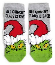 LADIES THE GRINCH OLD GRINCHY CLAUS SHOE LINERS SOCKS UK 4-8 EUR 37-42 USA 6-10
