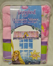 Disney Tangled Princess Fabric Valance/Window Curtain/Drape-Pink/Purple-17 x 50""