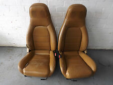Mazda MX5 MK1 V-Spec Seats in Tan Leather with Headrest and Lumper Speakers