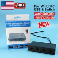 GameCube Controller Adapter 4 Port For Nintendo Switch NGC Wii U & PC USB US