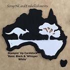 • • • Die Cuts ~ 'AUSTRALIA' x8 ~ Stampin Up CardStock ~ Cards ~ Scrapbooking