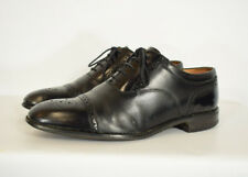 Men's Loake Woodstock All Leather Black Brogues Shoes Size UK 6