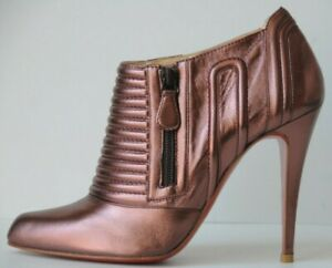 Neuf Christian Louboutin Sigourney Rose Mauve Violet Bottes Chaussures 38.5