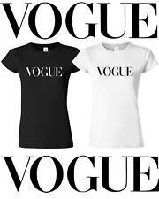 Vogue T Shirt Celebrity Fashion Top New White Womens Celine UK Summer