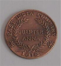 Antique East India Company Lord Ganesha And Jai Maa Laxmi Copper Coin