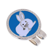 Alloy Creative Chinese Zodiac Rabbit Golf Hat Clip Magnetic with Ball Marker