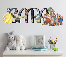 Snow White Princess Custom Vinyl Lettering Stickers Wall Decals Name Art KA55