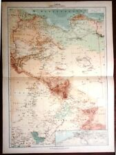 Carta geografica antica AFRICA LIBIA COLONIA ITALIA De Agostini 1927 Antique map