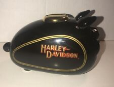 Harley Davidson Motorcycle Tank Coin Pig Piggy Bank Small- Black and Gold