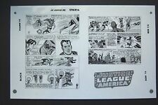 Org. Production Art JUSTICE LEAGUE OF AMERICA #13, pg 21 & 22, MIKE SEKOWSKY art
