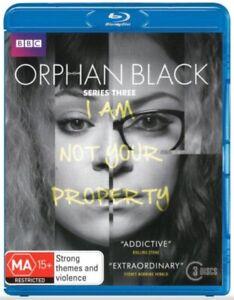 Orphan Black: Series 3 Blu-ray (3 Disc Set) Brand New Sealed Region B 🇦🇺