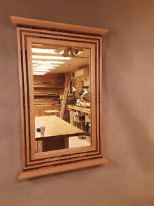 Handcrafted Arts & Crafts /Prairie Style Mirror Red Oak & Honduran Mahogany