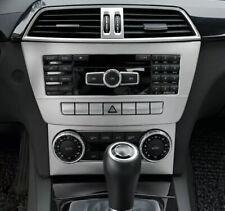 Mittelkonsole Edelstahl Radio Abdeckung Blende Passend Für Mercedes Benz W204