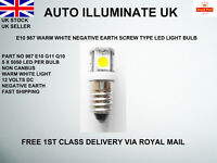 E10 987 LED MES Warm White Screw Light Bulbs Lamps Car Dashboard Instrument 12V