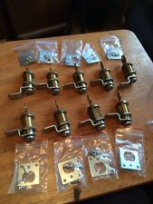 22 Total /locker/drawer Cam Lock Lot With One Key Each And Hardware Work Great