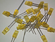20 Stück LED gelb, RECHTECKIG, bedrahtet Leuchtdioden LEDs