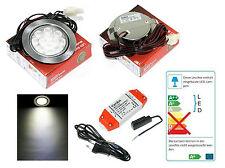 LED Einbauspot 12V Mobi 3W = 30W Weiss inkl. AMP Verteiler + Trafo IP20