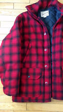 WOOLRICH RED PLAID WOOL HUNTING COAT 757 DUPONT THREMO LOFT MENS MEDIUM CLEAN