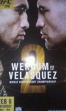 UFC 196 1/2/2016 Poster Werdum vs  Velasquez - New - 18 x 24
