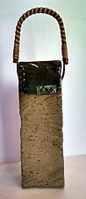 Vintage Ceramic  Wall Hanging incence or match holder Made In Japan wicker