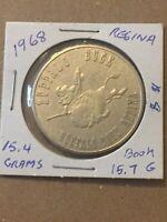 Token 1968 Buffalo Days Regina Saskatchewan Canada 1 Dollar Mountie Coin P19