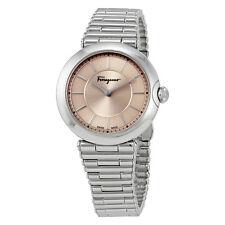 Ferragamo Symphonie Pink Sunray Dial Ladies Watch FIN040015