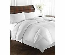 New RALPH LAUREN BRONZE COMFORT (KING) WHITE COMFORTER ~ 100% COTTON