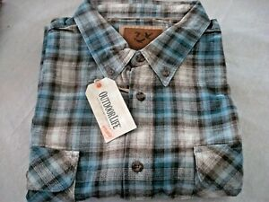 Mens Big & Tall Flannel Shirt Size XXL Assorted Color Outdoor Life