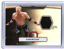 WWE Christian Topps Platinum 2010 Event Worn Shirt Relic Card