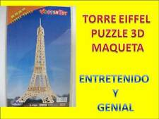 PUZZLE 3D DE LA TORRE EIFFEL. MADERA TROQUELADA.  Juguete aprendizaje. Educativo
