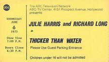 JULIE HARRIS THICKER THAN WATER RARE ORIGINAL 1973 ABC TV STUDIO TICKET