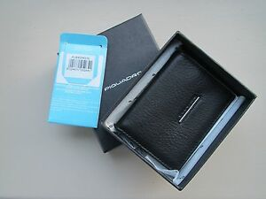 Piquadro Modus black small leather wallet PU845MO/N