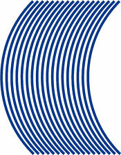 5mm wheel rim tape striping stripes stickers BLUE..(38 pieces/9 per wheel)
