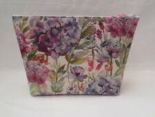 HANDMADE LARGE OILCLOTH MAKE UP TOILETRY BAG - VOYAGE HYDRANGEA FABRIC