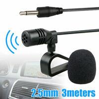 Autoradio 2.5mm Esterno con Microfono per Bluetooth GPS DVD Audio Ricevitore