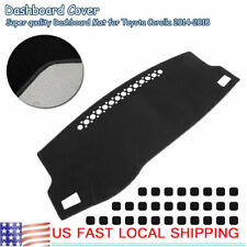 Black Dash Mat Sun Protection Cover Fit for Toyota Corolla 2014-2018 US Stock