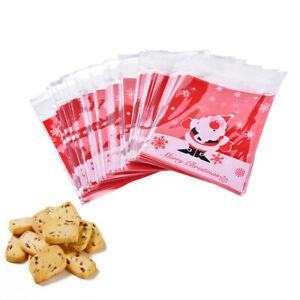 Cookie Bags Self Adhesive Biscuit Bags Plastic Christmas Home Multi-styles