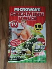 15 JUMBO MICROWAVE  STEAM STEAMING BAGS HEALTHY COOKING FISH POULTRY VEGETABLES