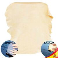 Paño Bayeta GAMUZA Natural 60x90cm Limpieza Lavado Secado Coche Gafas Ducha Moto
