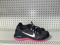 Nike Dual Fusion Run 3 Womens Athletic Running Shoes Size 7.5 Gray Pink White