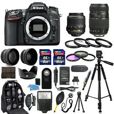 Nikon D7100 Digital Camera + 18-55mm + 70-300mm + 30 Piece Accessory Bundle