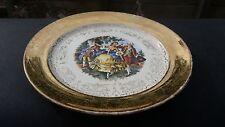 "Crest O Gold Sabin SAB1 Plates 9¼"" Luncheon Warranted 22K GOLD Souvenir Syracuse"