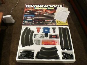 FAULTY  RARE WORLD SPORTS SCALEXTRIC SET BOXED & EXCELLENT,KENWOOD, LE MANS,90'S