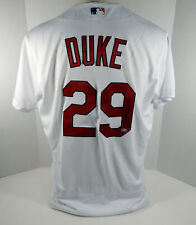 St. Louis Cardinals Zach Duke #29 Game Issued Signed White Jersey