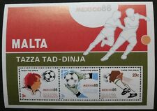World cup football championship in Mexico stamp sheet 1986, Malta Ref: MS784 MNH