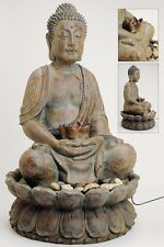 Fountain Buddha 85cm Grey Brown also for Outdoor Figure Sculpture Model NEW