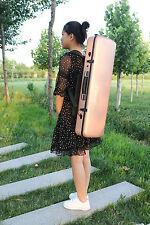 Golden 4/4 Violin Case Carbon Fiber Violin Box Back Strap Strong Light Yinfente